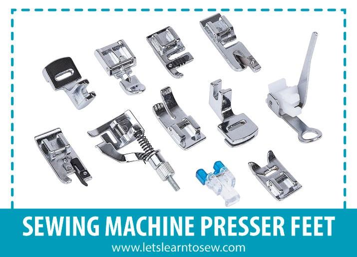The basic sewing machine feet