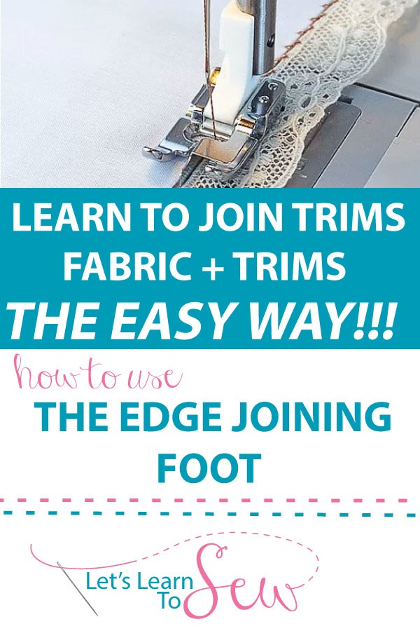 Learn how to join fabrics and trims the easy way.