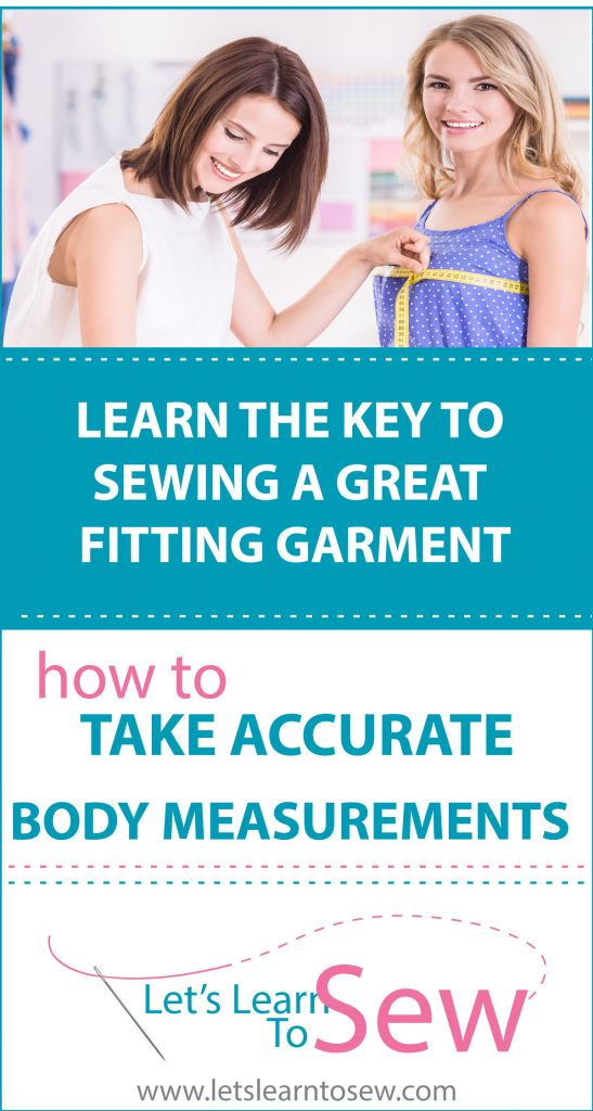 Learn the key to sewing a great fitting garment with our FREE Body Measuring Guide!
