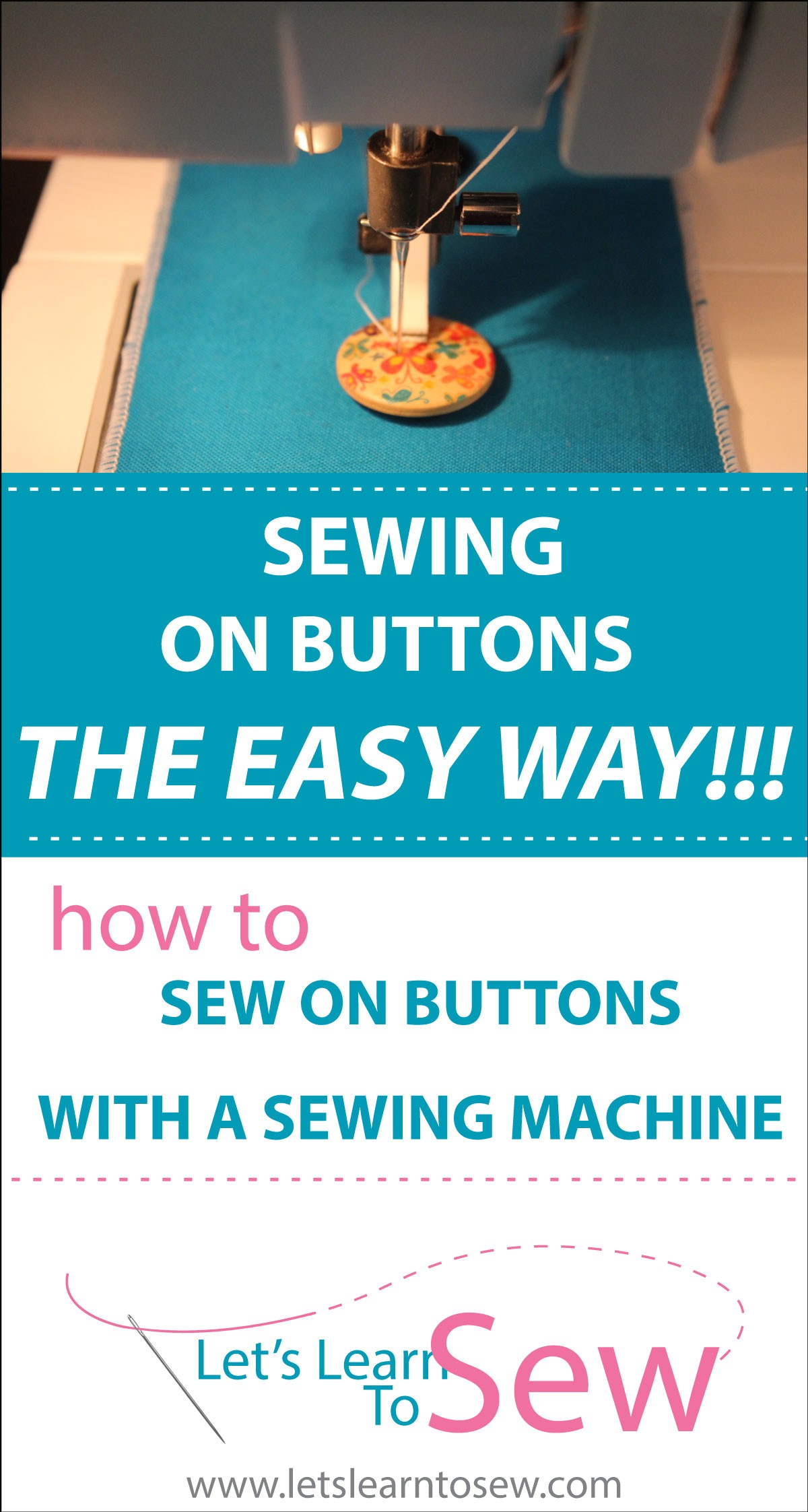 How to sew button on using your sewing machine
