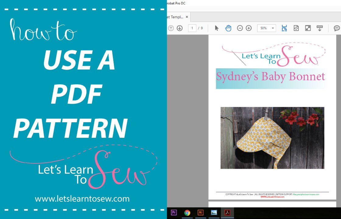 How to use a PDF pattern