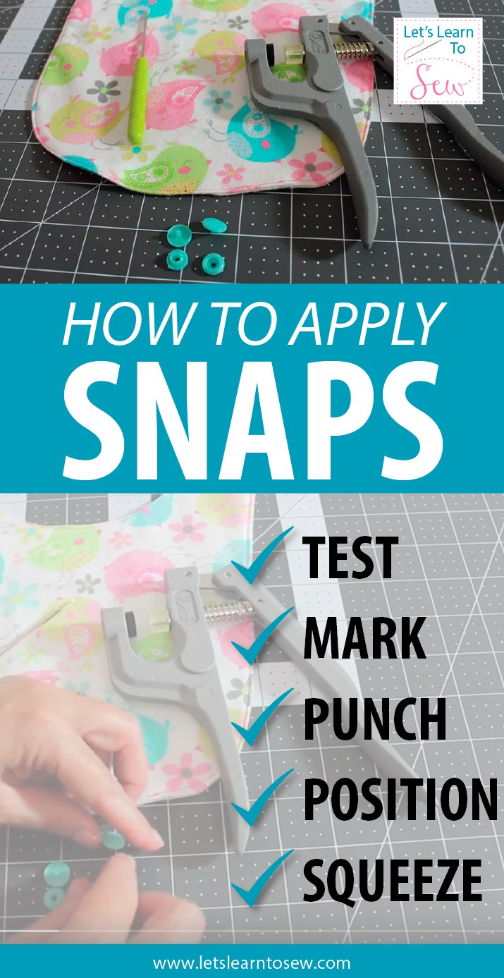 How To Apply Snaps Using Snap Pliers