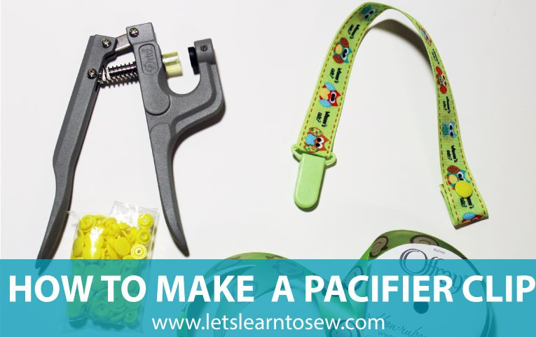 How To Make A Pacifier Clip From Ribbon A Diy Tutorial