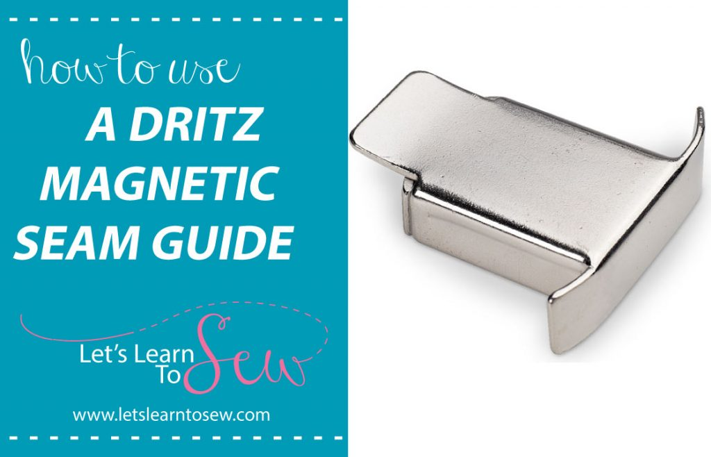 How to use a magnetic seam guide while sewing. This seam guide makes sewing the perfect seam allowance a breeze!