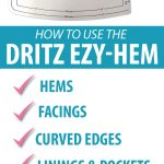 How to use the Dritz Easy Hem