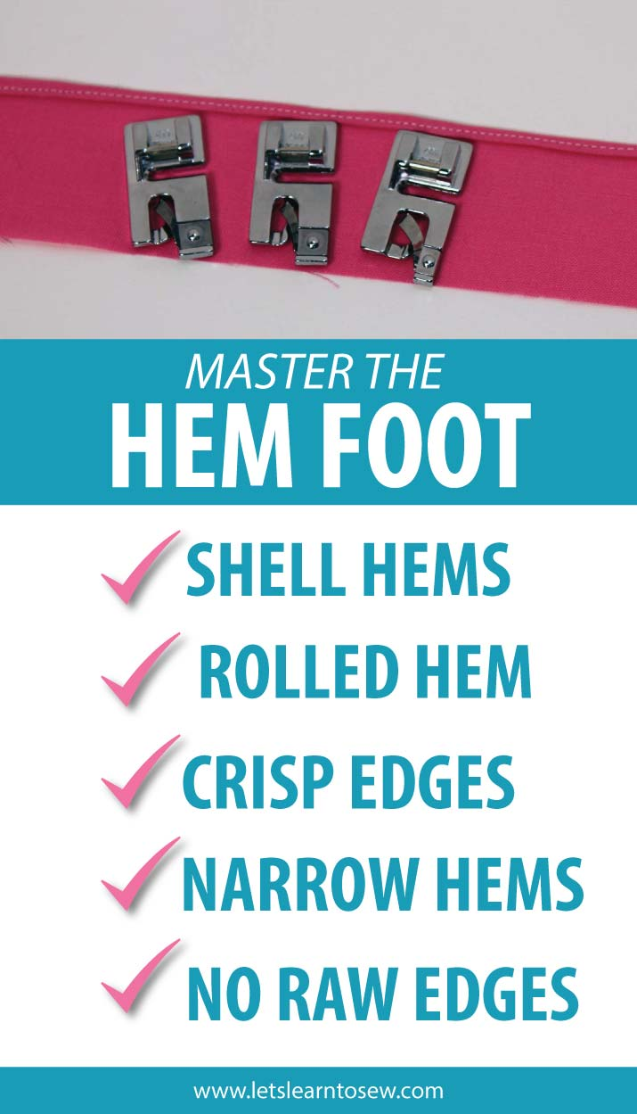 How To Use The Rolled Hem Presser Foot For Perfect Narrow Hems. Learn how to use a Hem foot to create perfect rolled or narrow hems.