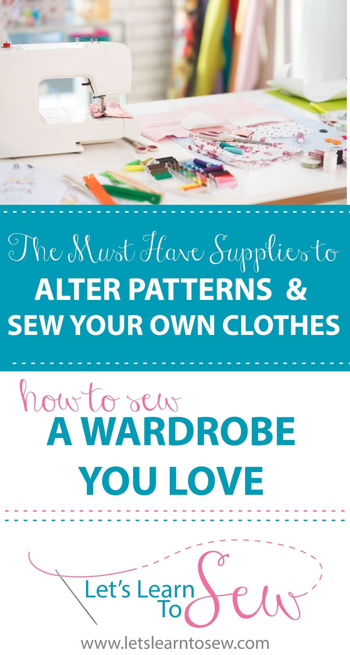 The Basic Supplies To Alter Patterns and Sew a Wardrobe