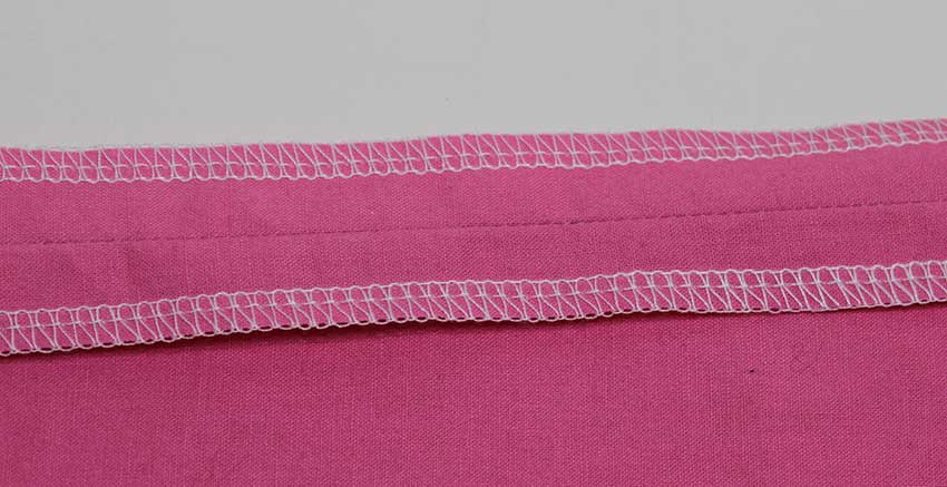 A sergered of overlock seam is the quickest and most convenient way of finishing a seam.