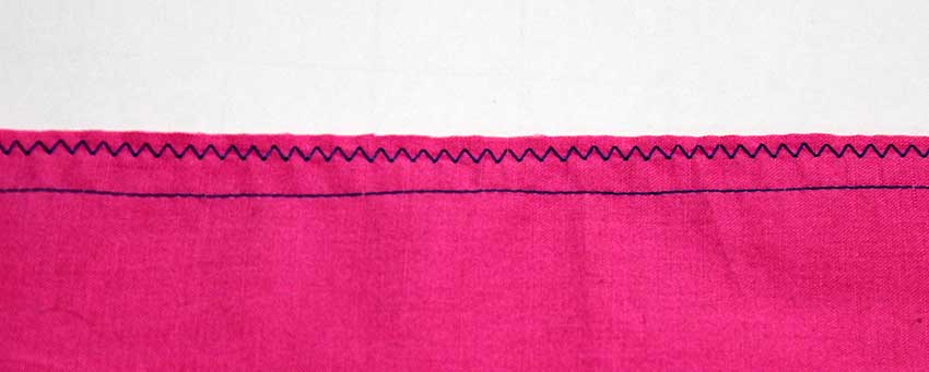 Zigzagging gives a good finish on more stable fabrics such as cotton poplin or linen. It also tends to give a better finish on closed seams. the double layer of fabric stabilizes the zigzag stitch.
