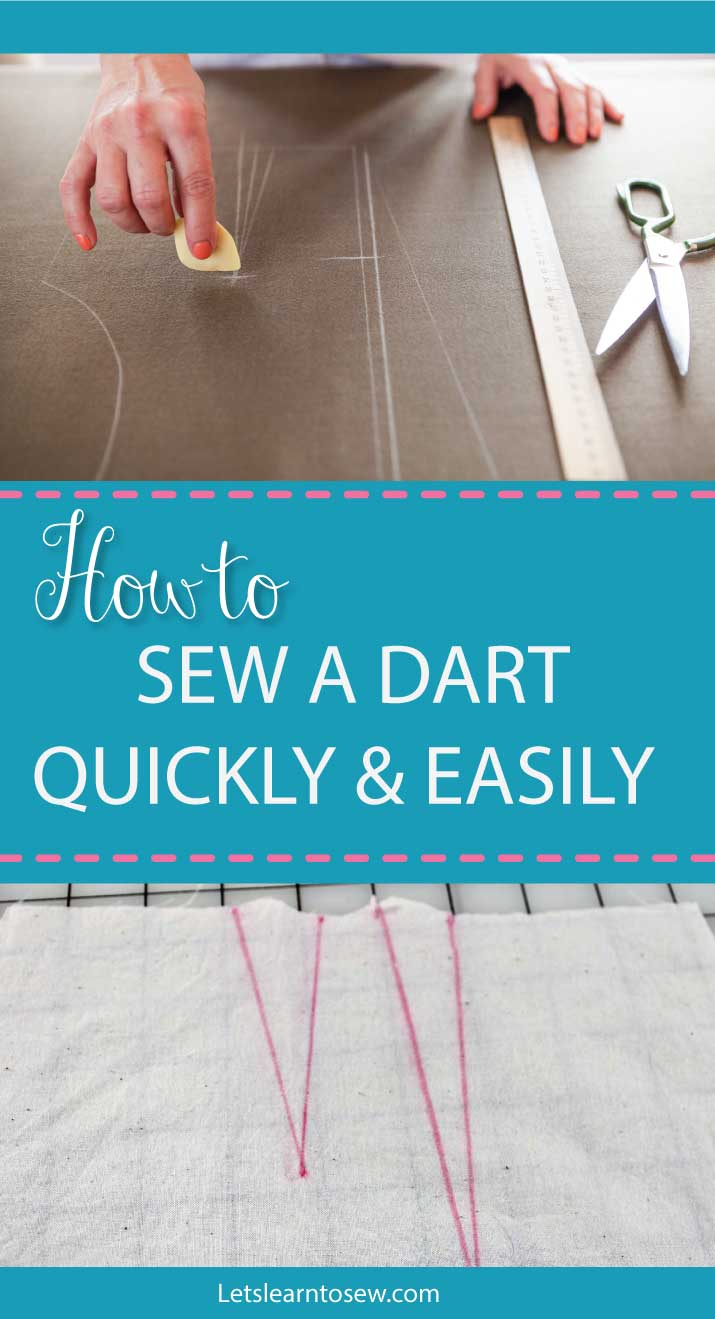 How to Sew a Dart Quickly and Easily. For beginners, sewing darts can feel like a complicated step.. Learn how to sew and press a dart quickly and easily