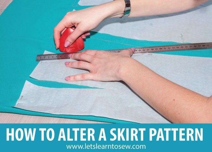 Learn to alter a skirt pattern for a perfect fit. It doesn't have to be hard. You just need to know how to make the basic alterations to fit your body.