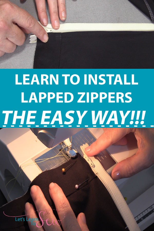 Learn how to insert a lapped zipper the easy way. A lapped zipper gives a tailored look. Only one line of stitching shows on the right side of the fabric.