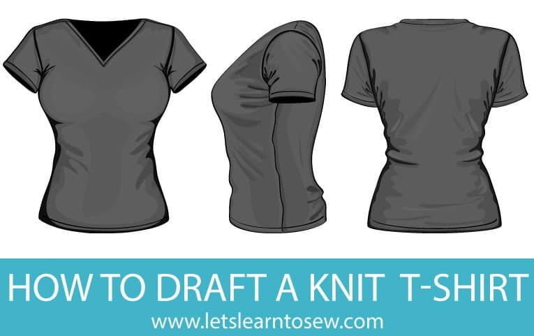 Learn how to draft a knit t-shirt that fits just right using body measurments. I'll show you how to measure and how to draft the perfect fitting tshirt.