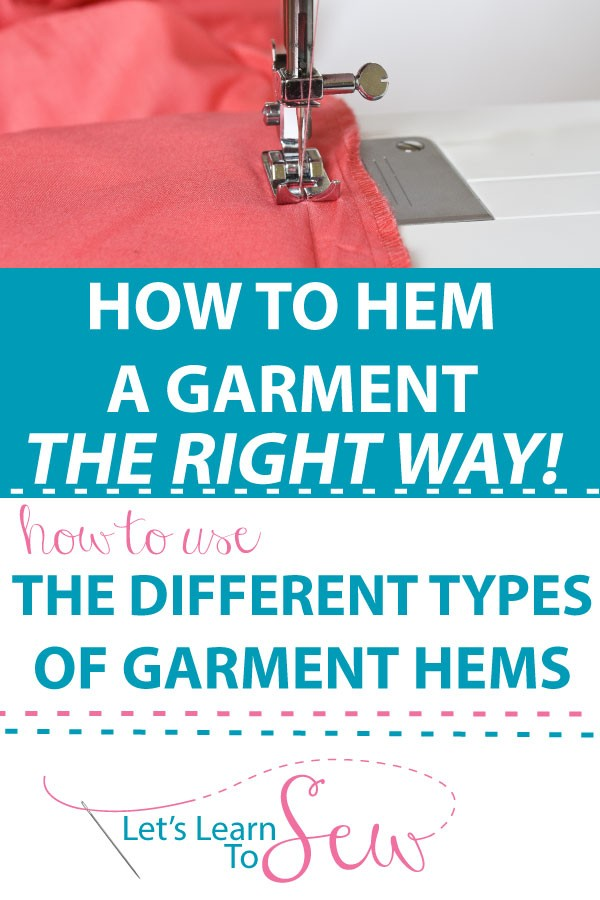 Hemming a Garment, What you Need to Know. Learn the different types of hems used when sewing clothing, when to use each one and how to sew each hem type.