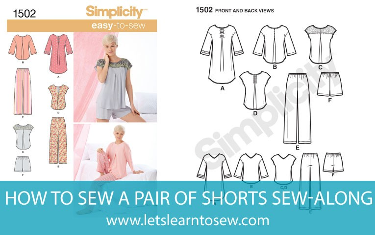 How to read a sewing pattern with a shorts sew-along
