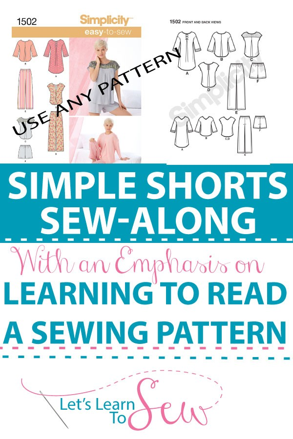 Are you confused by all the terminology and symbols when you try to read a sewing pattern? Learn how to read a sewing pattern in our shorts sew-along